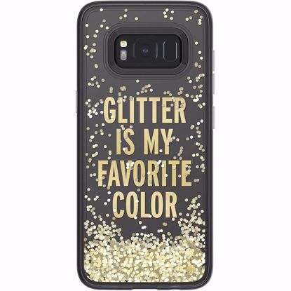 Picture of Kate Spade Kate Spade Hardshell Case for Samsung Galaxy S8 in Glitter/Gold/Clear