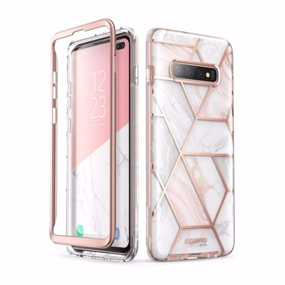 Picture of i-Blason i-Blason Cosmo Case with Screen Protector for Samsung Galaxy S10+ in Marble