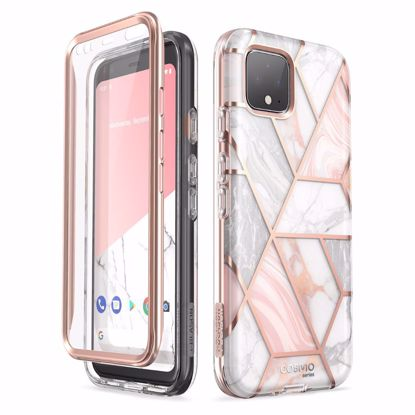 Picture of i-Blason i-Blason Cosmo Case with Screen Protector for Google Pixel4 in Marble