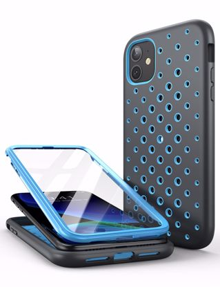 Picture of i-Blason i-Blason SUPCASE Unicorn Beetle Sport Case with Screen Protector for Apple Phone 11 in Blue/Grey