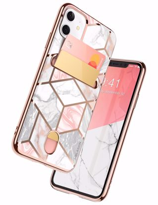 Picture of i-Blason i-Blason Cosmo  Wallet Designer Case for Apple iPhone 11 in Marble