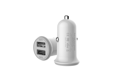 Picture of Golf Golf Dual Car Charger USB-A 3.4A in White (No Cable)