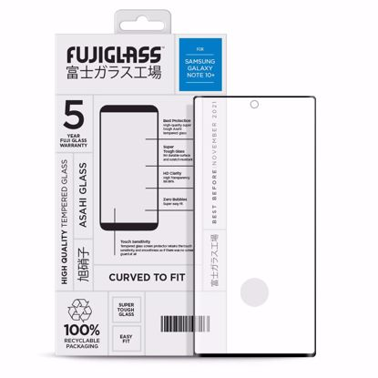 Picture of Fuji Fuji Curved-to-fit Screen Protector for Samsung Galaxy Note 10+ in Clear/Black