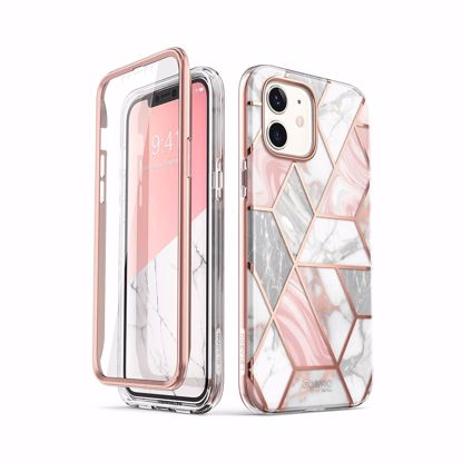 Picture of i-Blason i-Blason Cosmo Case with Screen Protector for Apple iPhone 12 Mini in Marble