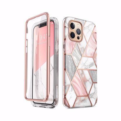 Picture of i-Blason i-Blason Cosmo Case with Screen Protector for Apple iPhone 12 Pro Max in Marble