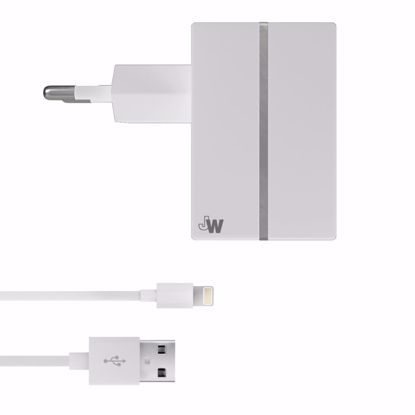 Picture of Just Wireless Just Wireless 2.4A EU Mains Charger with Apple Lightning Connector in White